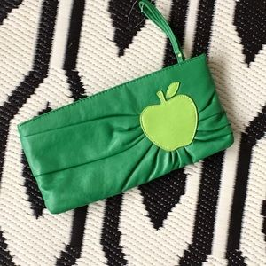Green apple bag clutch kitschy Fruit wristlet